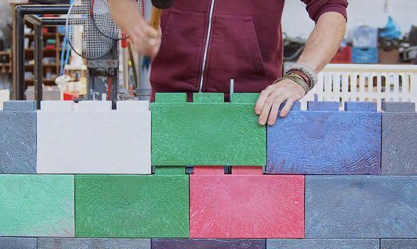 Briques déchets plastiques